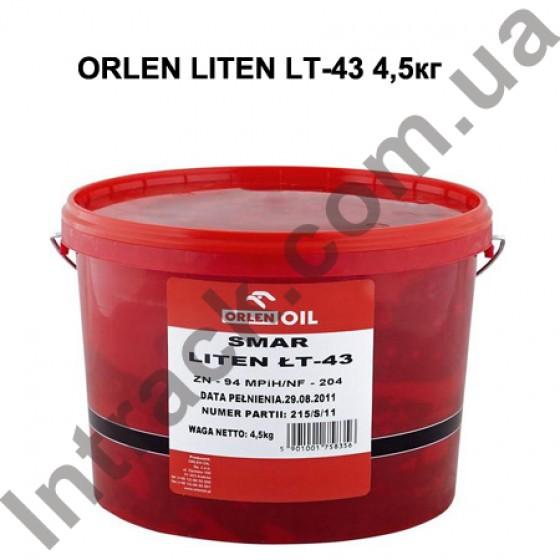 Смазка для спецтехники ORLEN LITEN LT-43 4,5кг